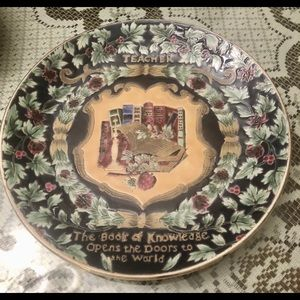 VINTAGE COLLECTIBLE PLATE FOR TEACHERS